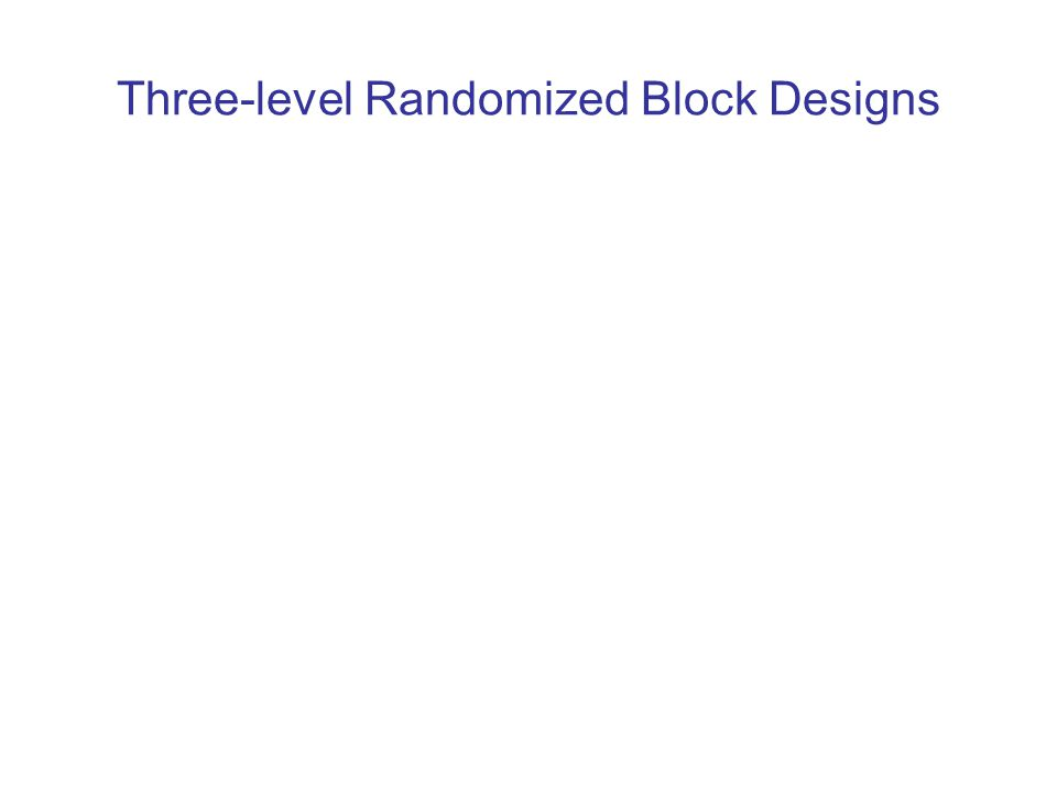 Three-level Randomized Block Designs
