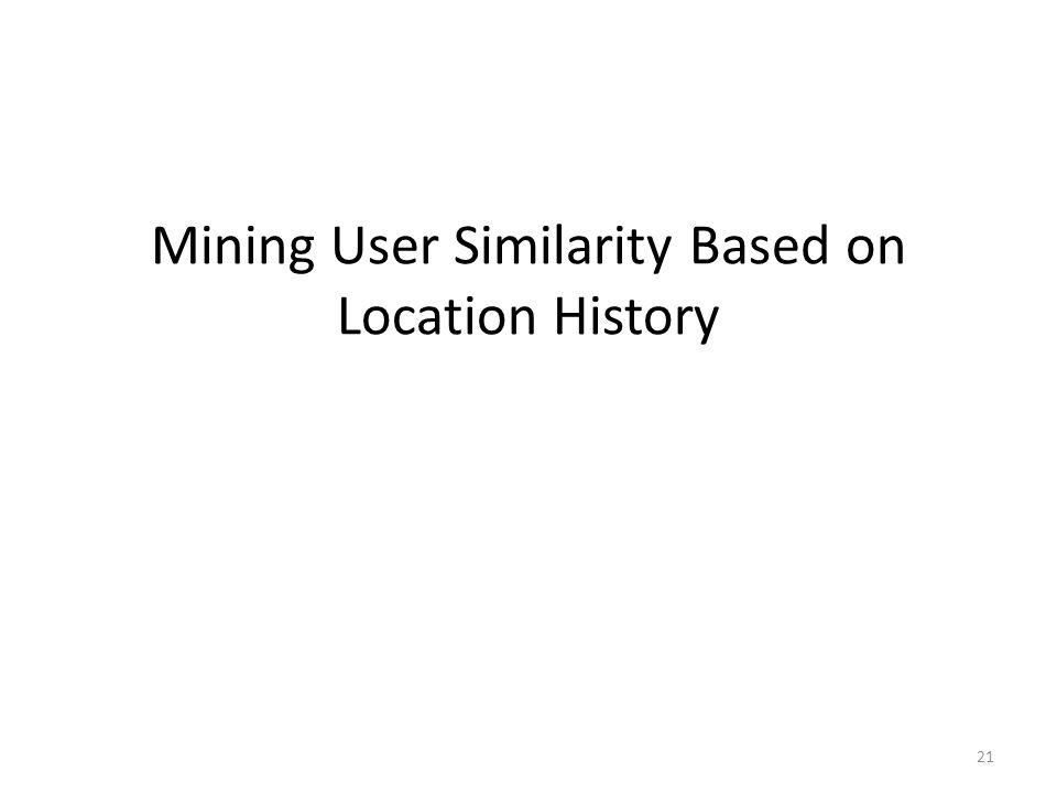 Mining User Similarity Based on Location History 21