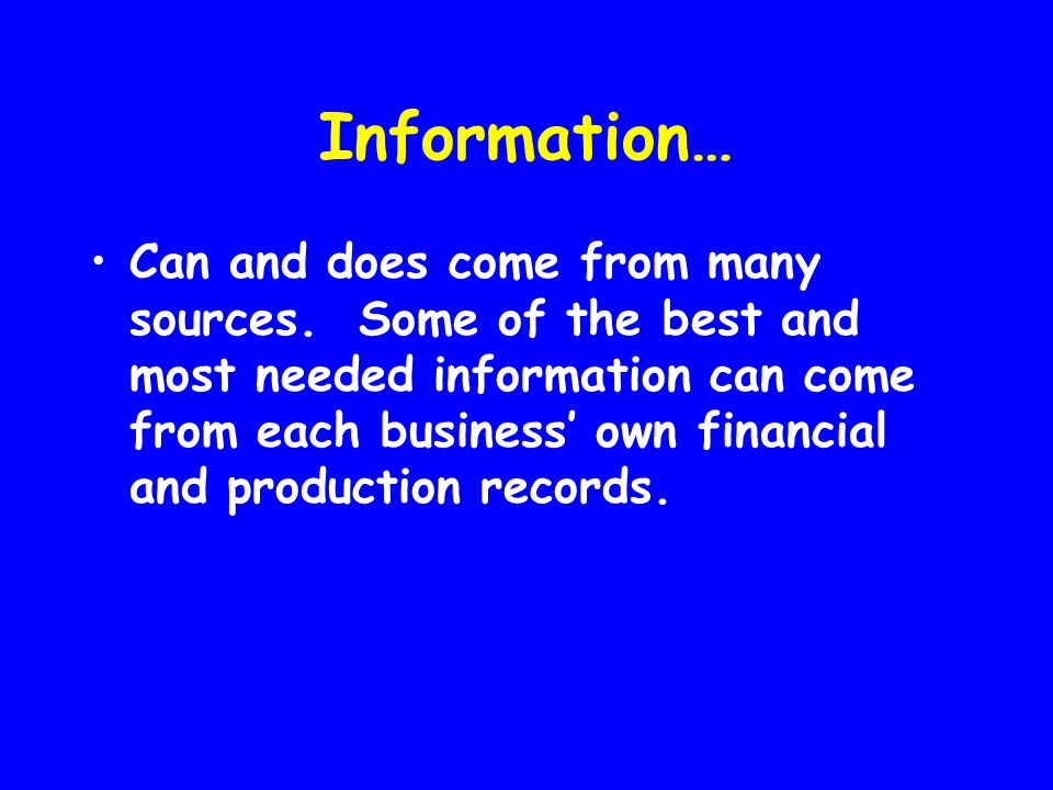 Systems… Need to be implemented that allow for only necessary record keeping and effective use of records.