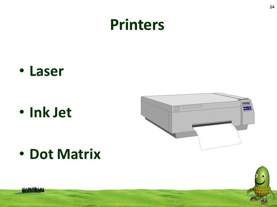 24 Printers Laser Ink Jet Dot Matrix