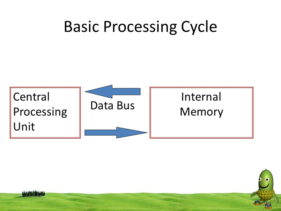 30 Basic Processing Cycle Central Processing Unit Internal Memory Data Bus