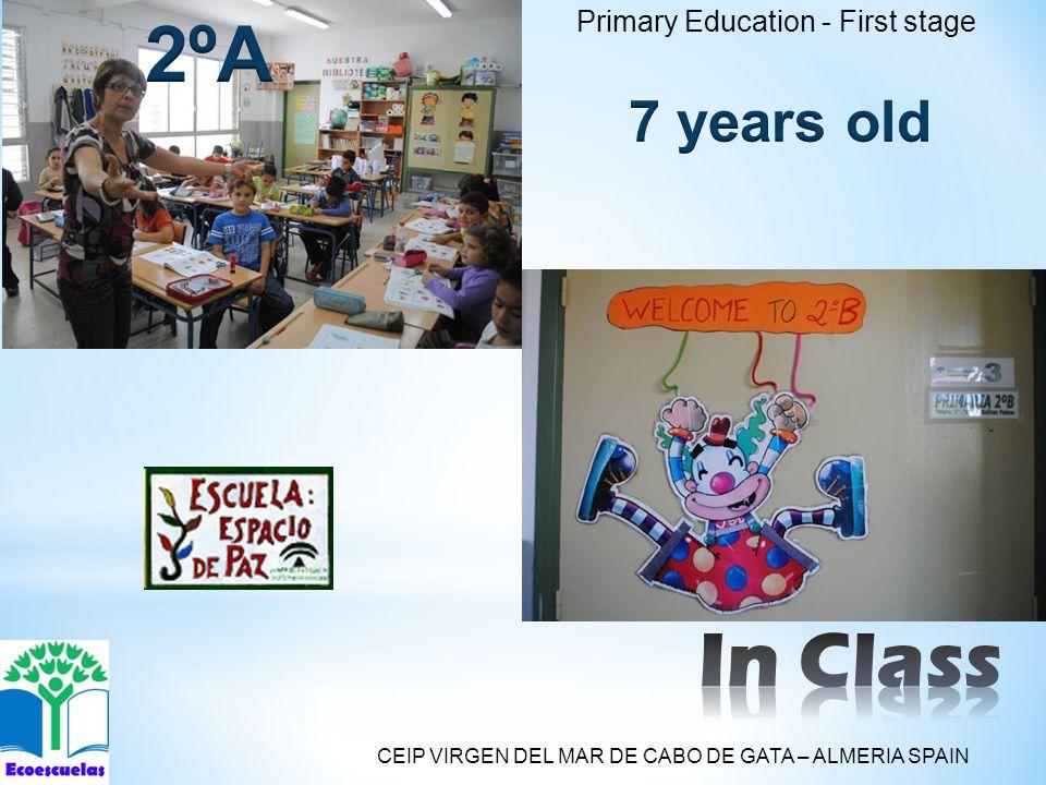 Primary Education - First stage CEIP VIRGEN DEL MAR DE CABO DE GATA – ALMERIA SPAIN