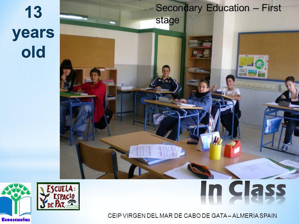Secondary Education – First stage CEIP VIRGEN DEL MAR DE CABO DE GATA – ALMERIA SPAIN