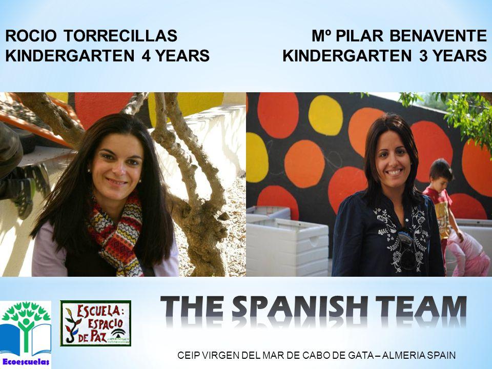 Mº PILAR BENAVENTE KINDERGARTEN 3 YEARS ROCIO TORRECILLAS KINDERGARTEN 4 YEARS CEIP VIRGEN DEL MAR DE CABO DE GATA – ALMERIA SPAIN