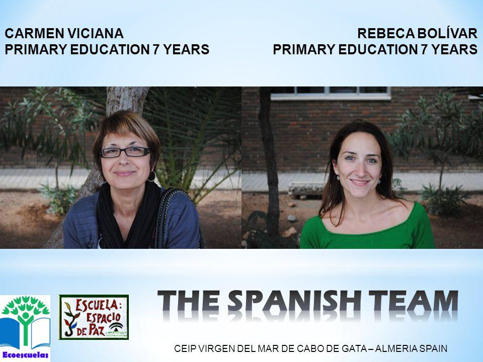 REBECA BOLÍVAR PRIMARY EDUCATION 7 YEARS CARMEN VICIANA PRIMARY EDUCATION 7 YEARS CEIP VIRGEN DEL MAR DE CABO DE GATA – ALMERIA SPAIN