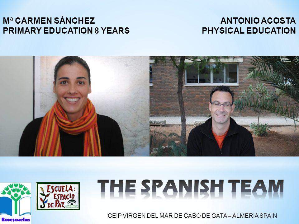 ANTONIO ACOSTA PHYSICAL EDUCATION Mª CARMEN SÁNCHEZ PRIMARY EDUCATION 8 YEARS CEIP VIRGEN DEL MAR DE CABO DE GATA – ALMERIA SPAIN