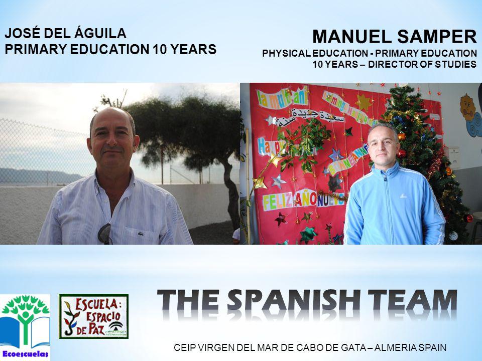 MANUEL SAMPER PHYSICAL EDUCATION - PRIMARY EDUCATION 10 YEARS – DIRECTOR OF STUDIES JOSÉ DEL ÁGUILA PRIMARY EDUCATION 10 YEARS CEIP VIRGEN DEL MAR DE CABO DE GATA – ALMERIA SPAIN