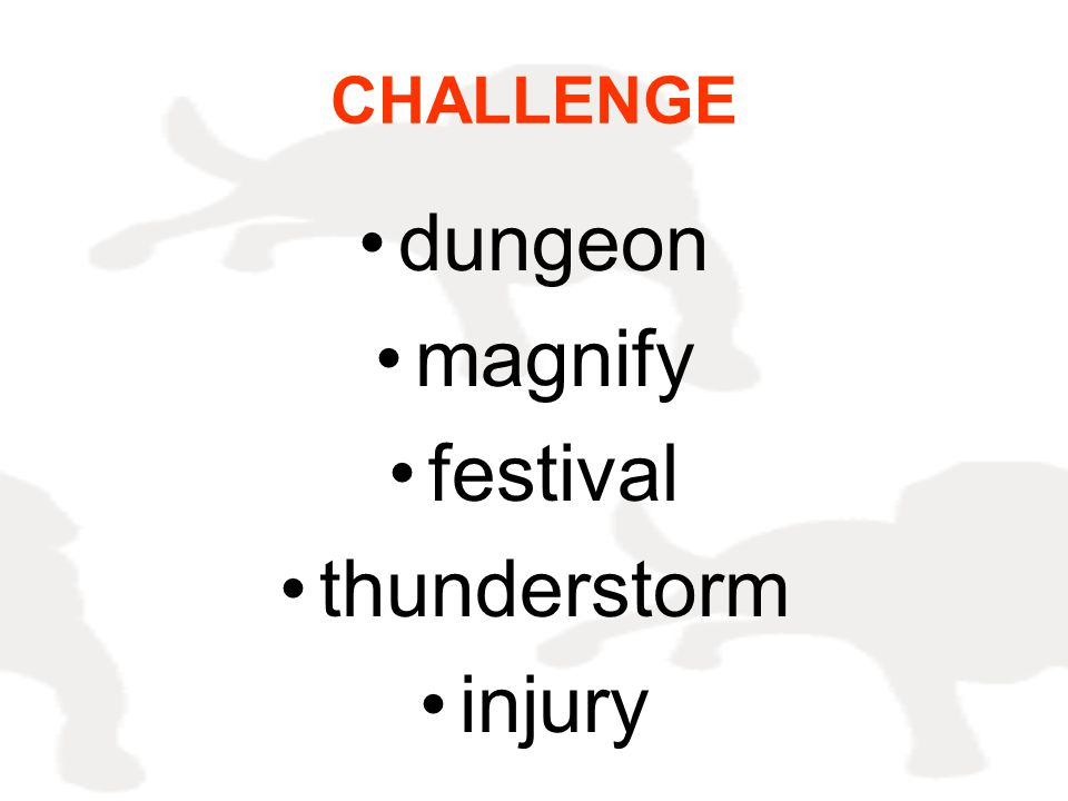 CHALLENGE dungeon magnify festival thunderstorm injury
