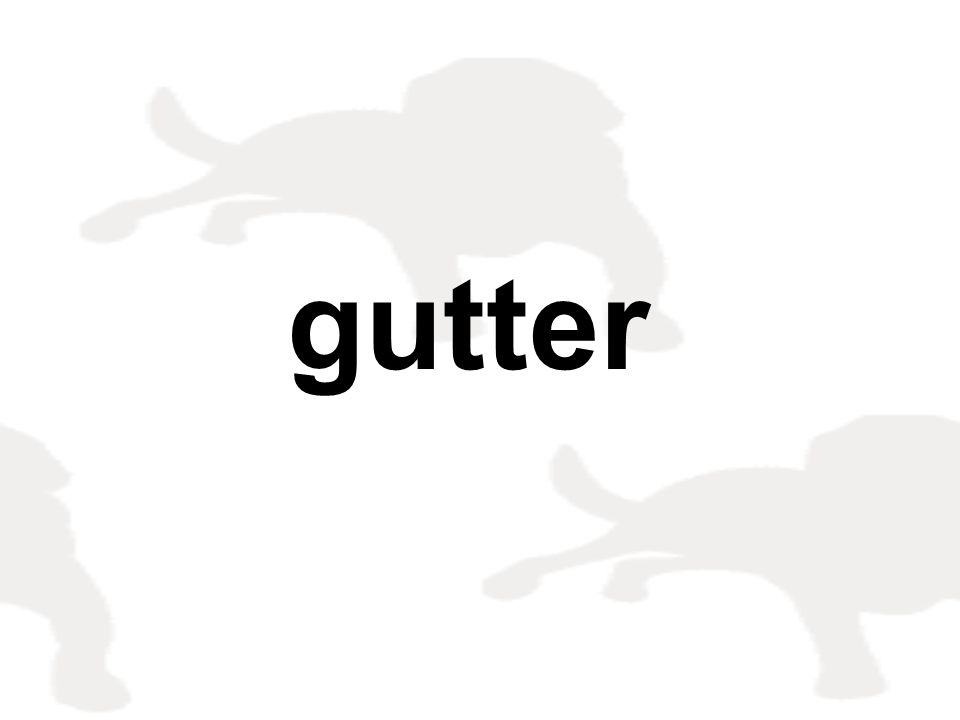 gutter