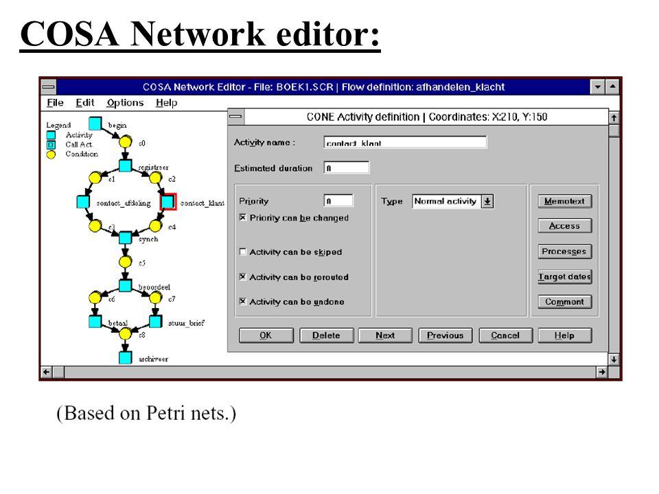 COSA Network editor: