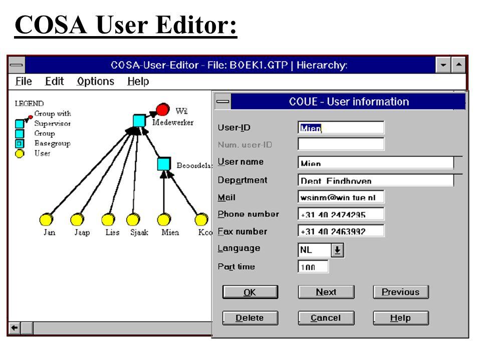 COSA User Editor: