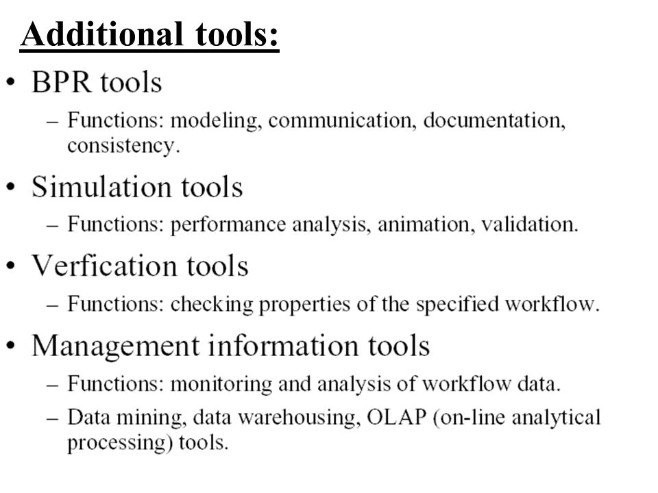 Additional tools: