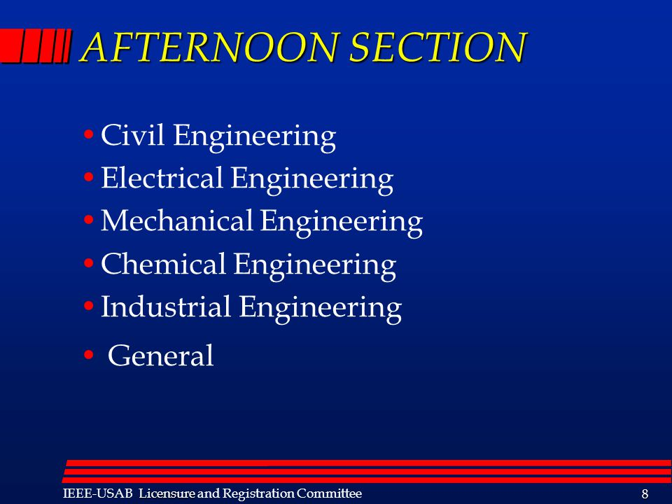 Licensure IEEE-USAB Licensure and Registration Committee 19 Opportunities for Advancement - Continued 9.