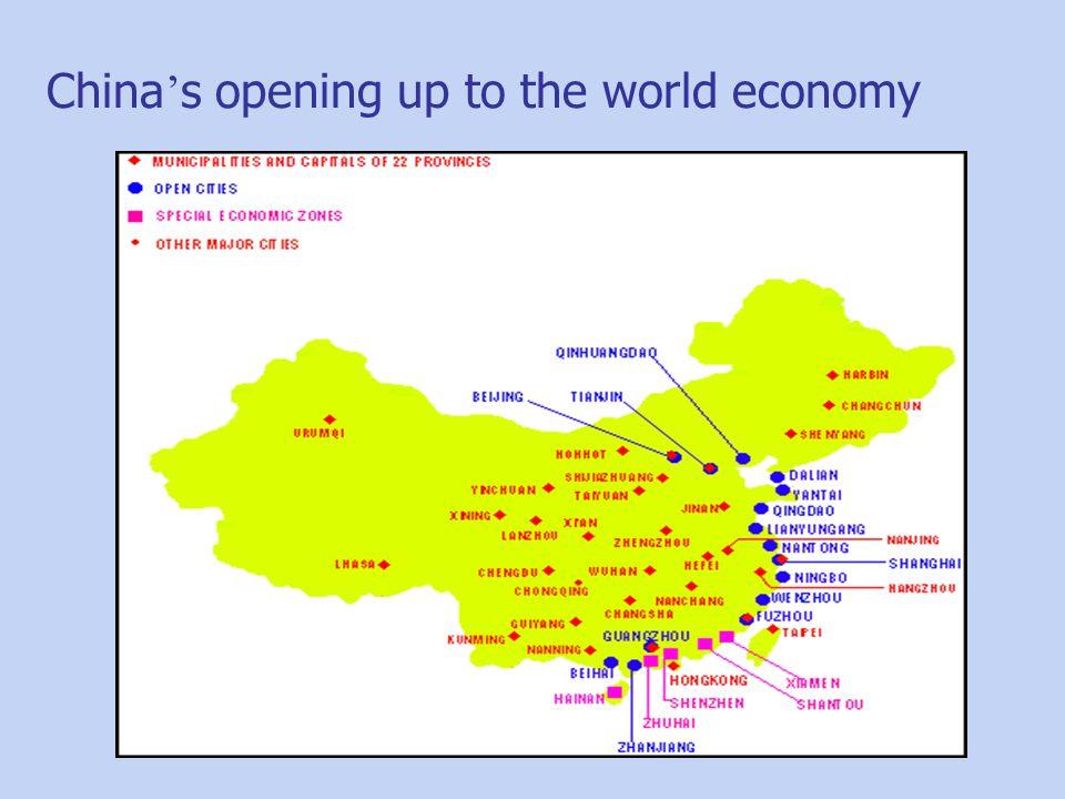 China ' s opening up to the world economy