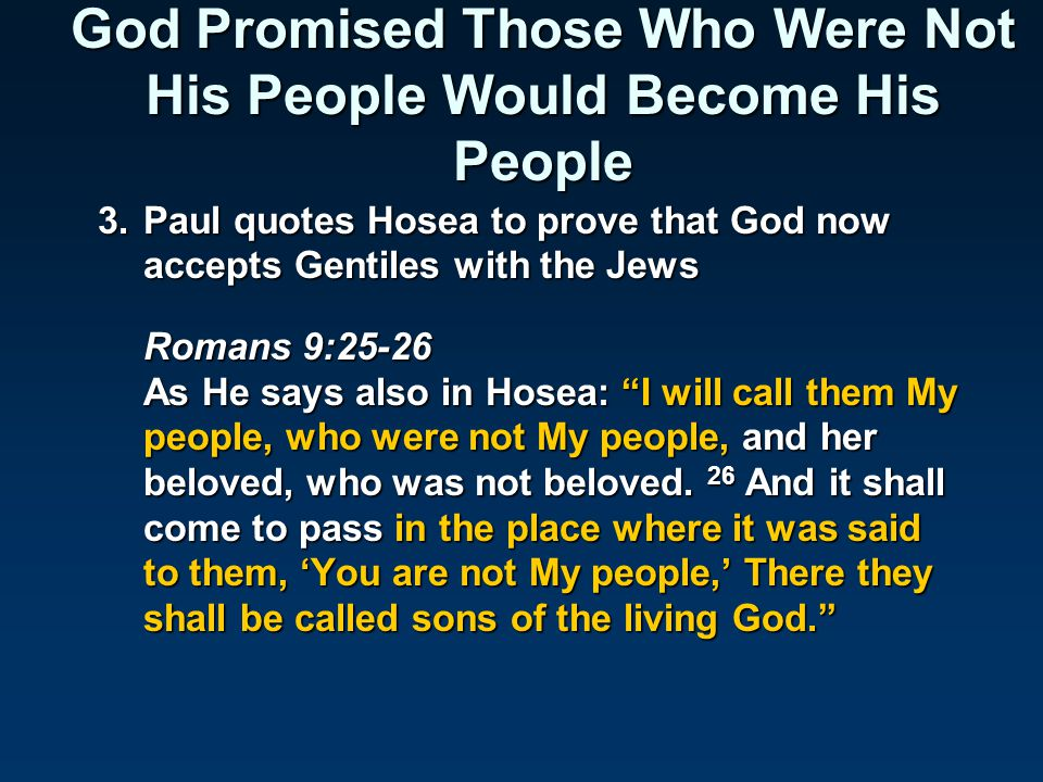True Israel in Romans Romans 4:13-14 For the promise that he would be the heir of the world was not to Abraham or to his seed through the law, but through the righteousness of faith.