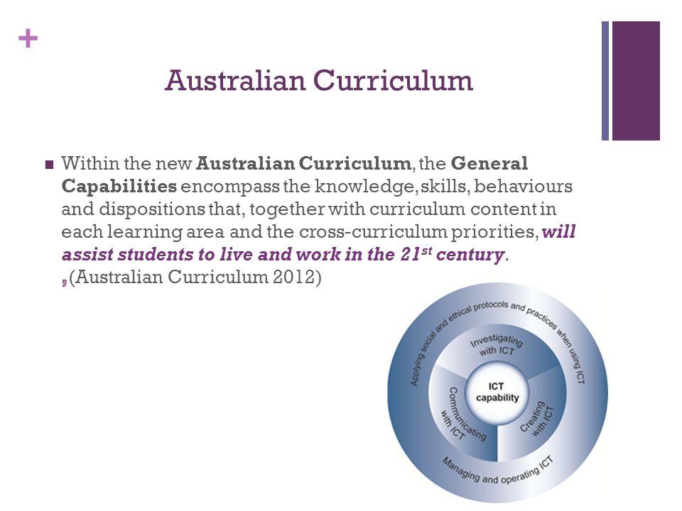 + Australian Curriculum