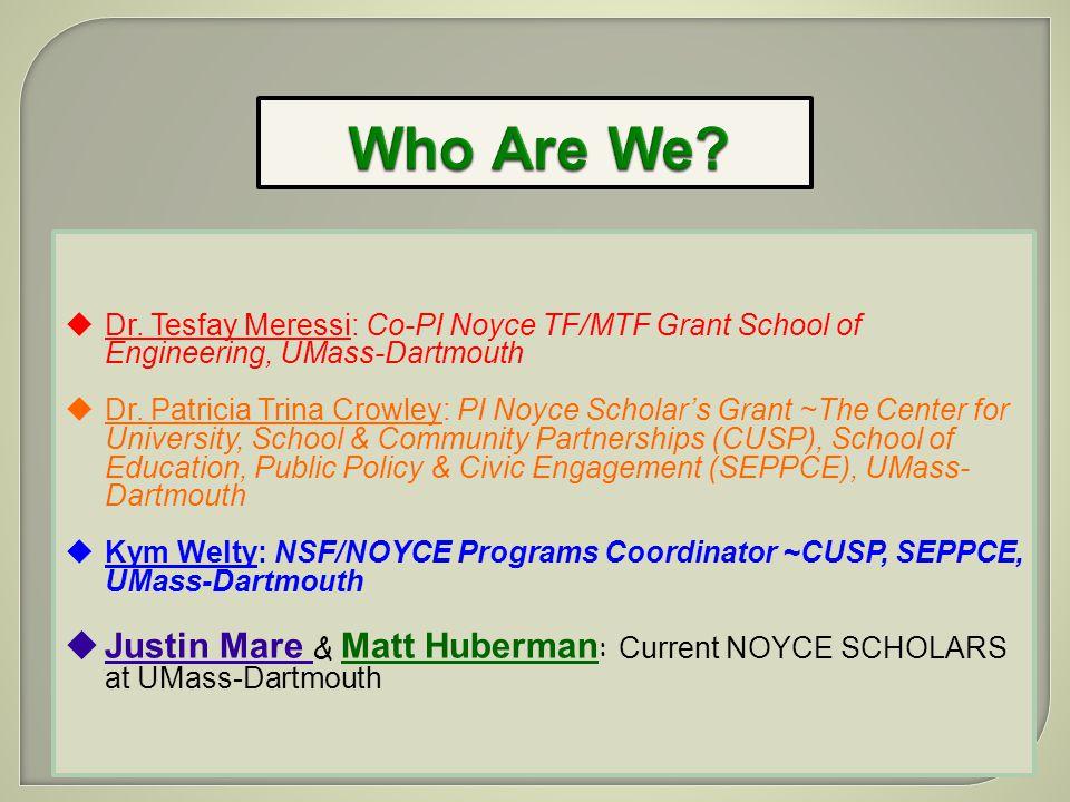 Participants? 3) How might we recruit more engineering graduates into the NOYCE SCHOLARS PROGRAM?