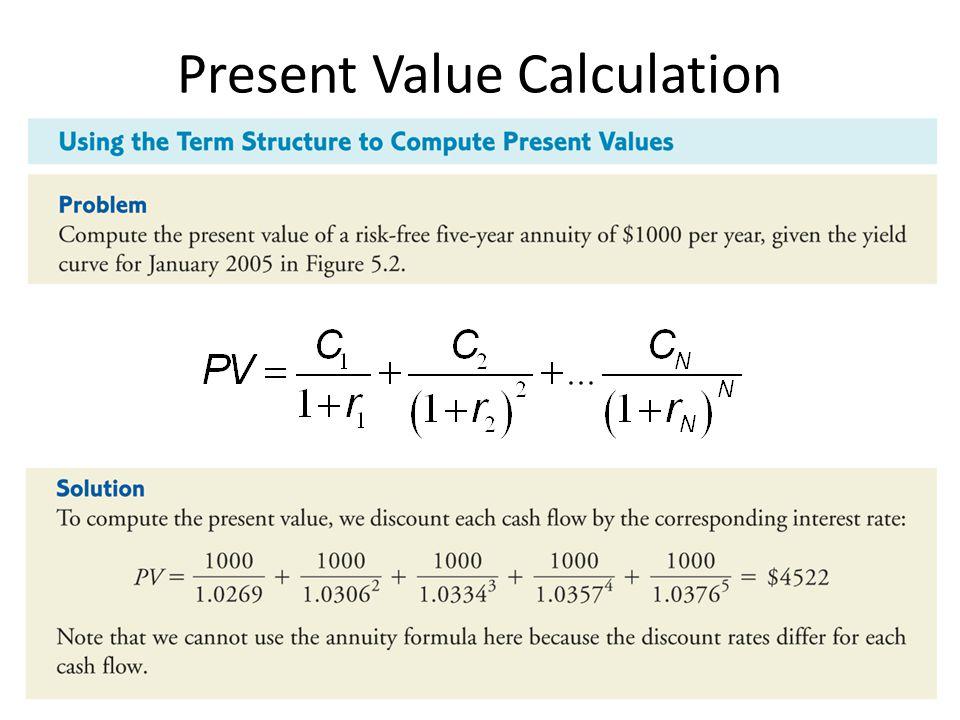 Present Value Calculation