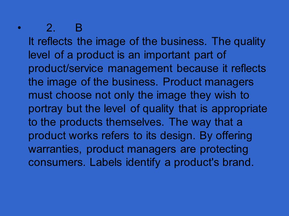 3.Which activity is addressed in the product/service management function.
