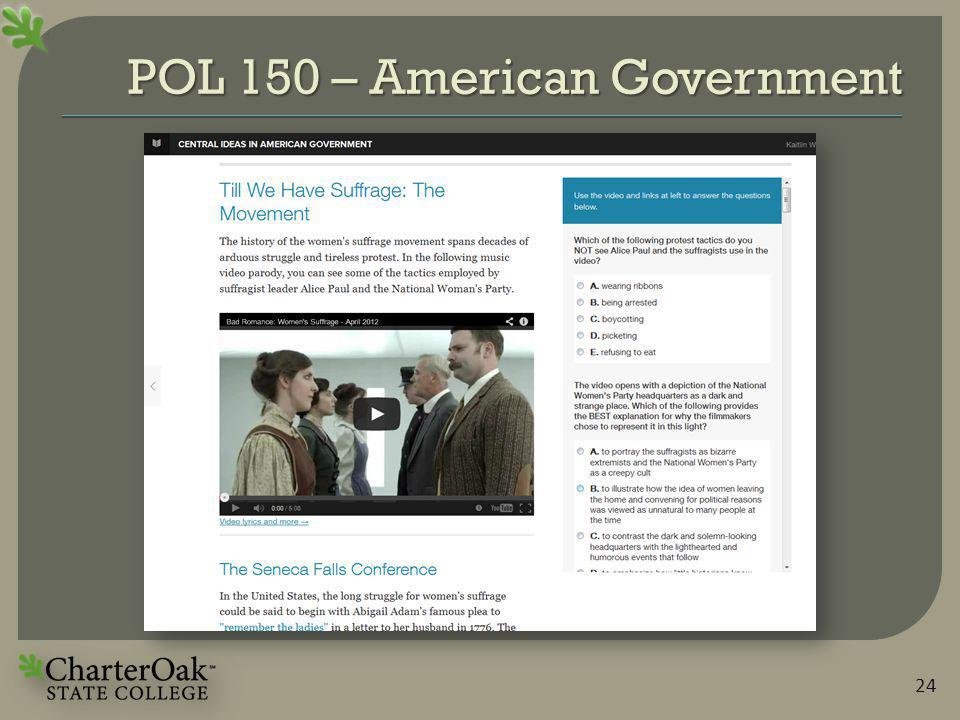 POL 150 – American Government 24
