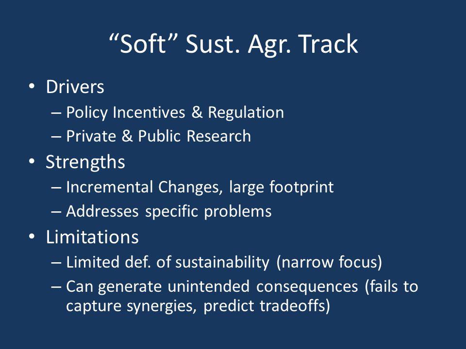 Soft Sust. Agr.
