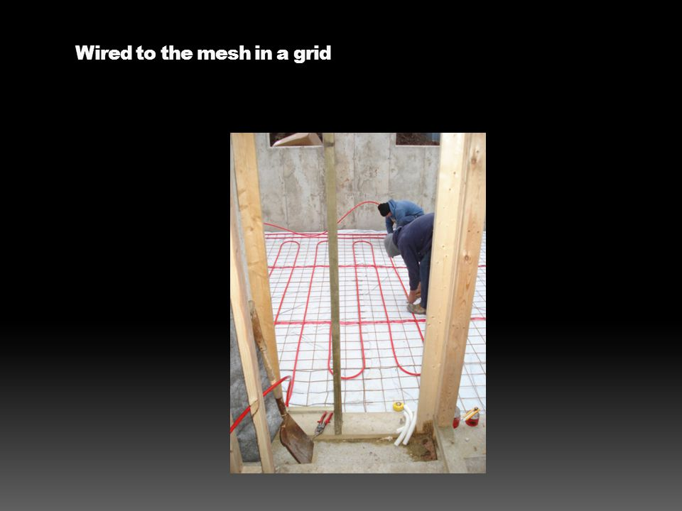 Wired to the mesh in a grid