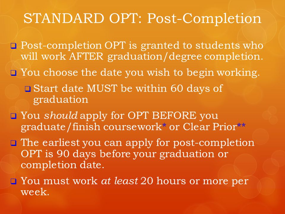 * USCIS does allow OPT application during the grace period, BUT the application MUST be at the USCIS office BEFORE the grace period is over and you must still choose an OPT start date within the grace period.