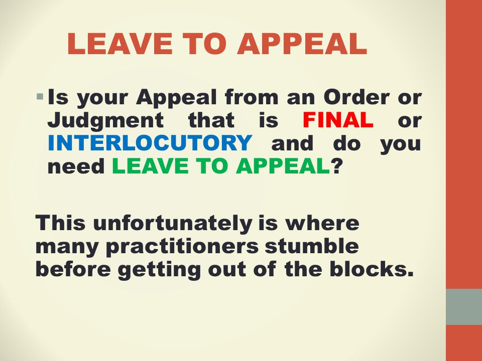 TIME FOR SERVICE OF APPEAL  This is another area of pitfall for practitioners.