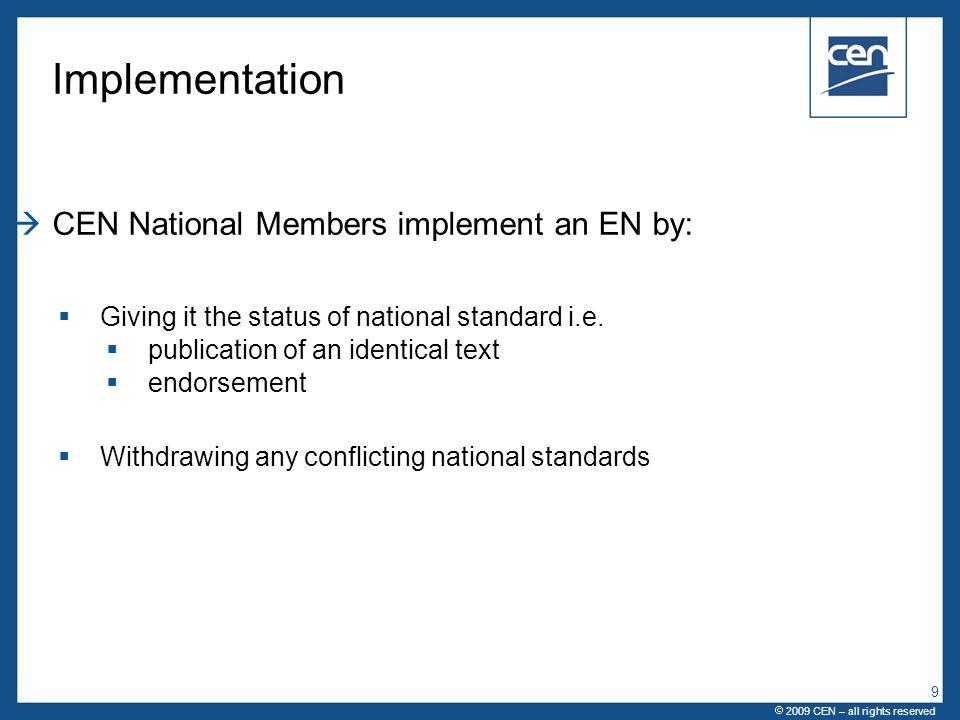  CEN Workshop Agreement - CWA