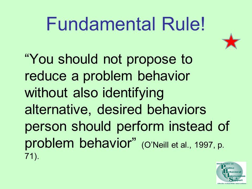 Fundamental Rule.