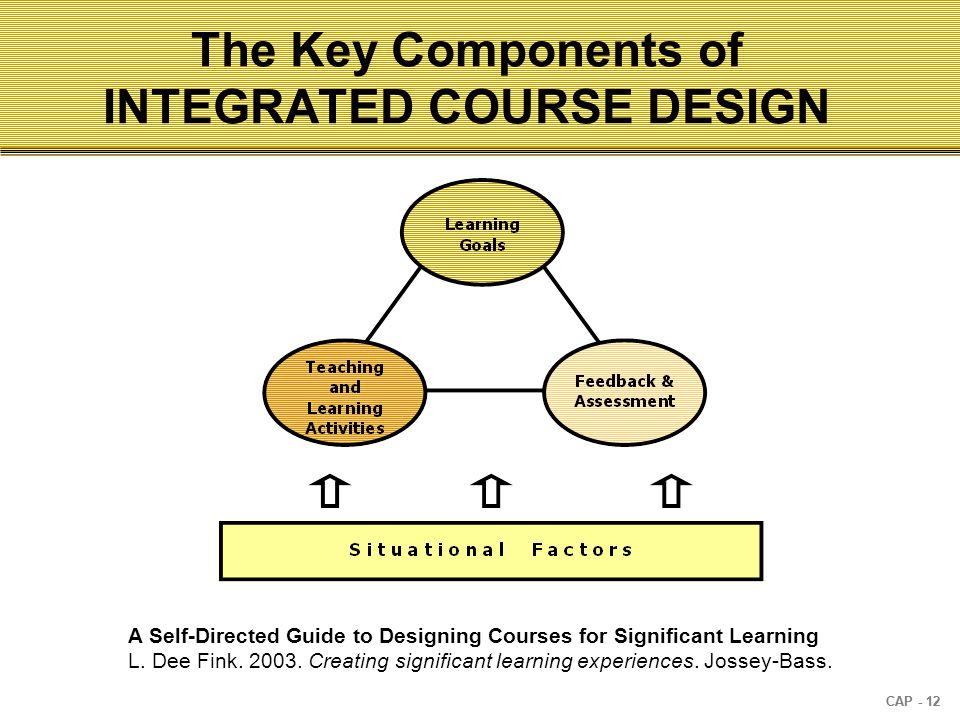CAP - 12 A Self-Directed Guide to Designing Courses for Significant Learning L.