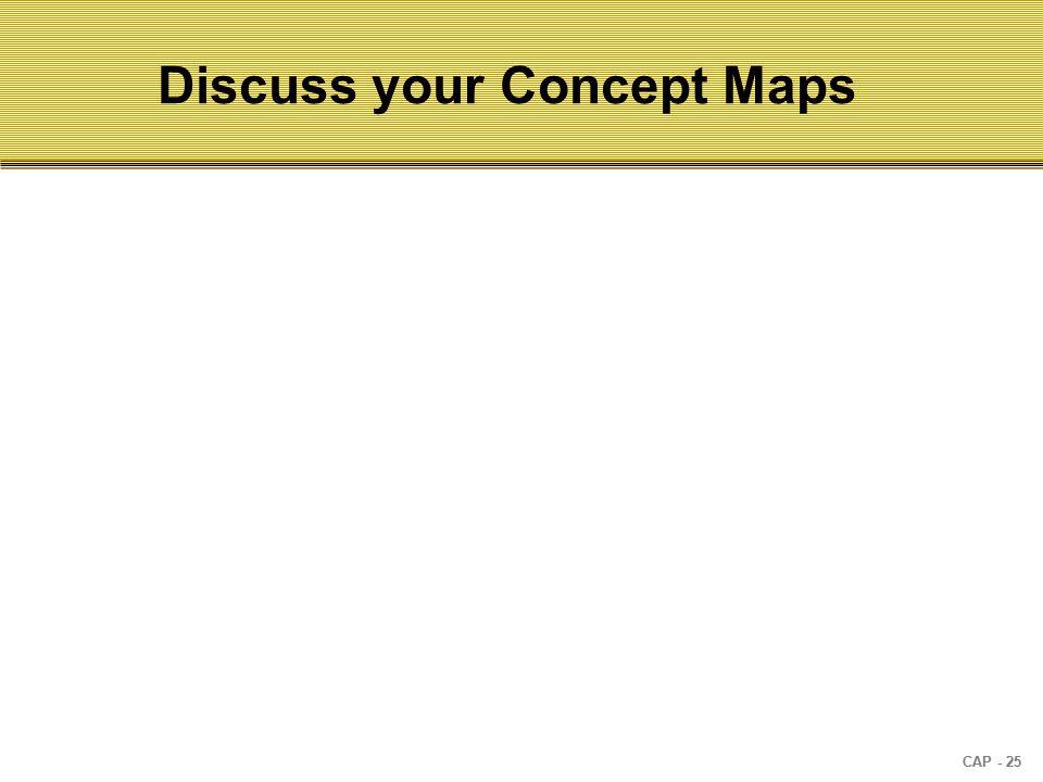 CAP - 25 Discuss your Concept Maps