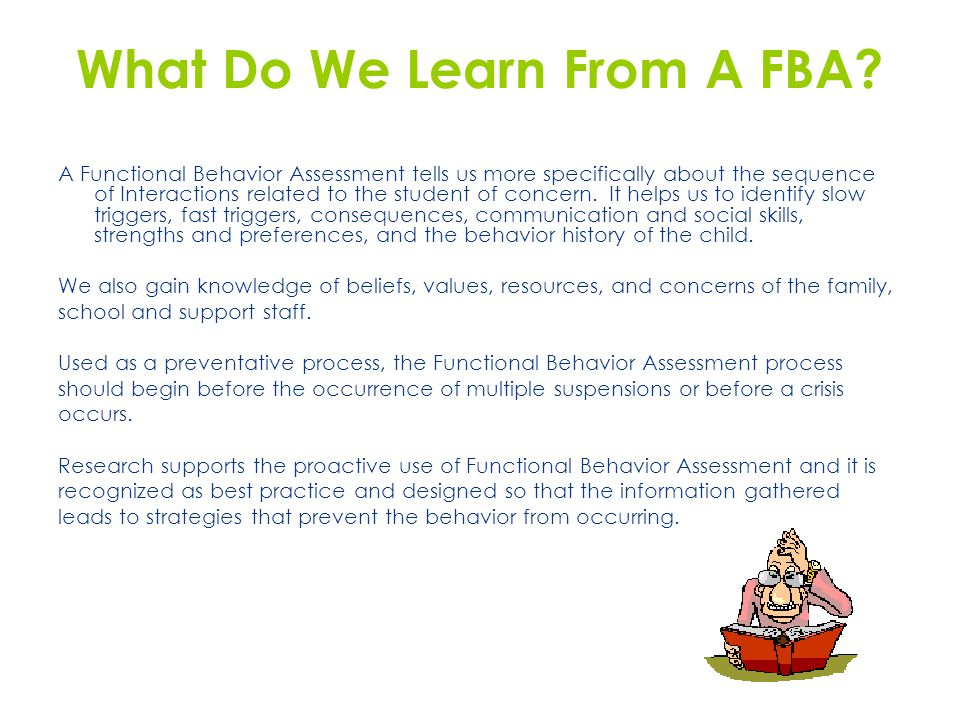 What Do We Learn From A FBA.