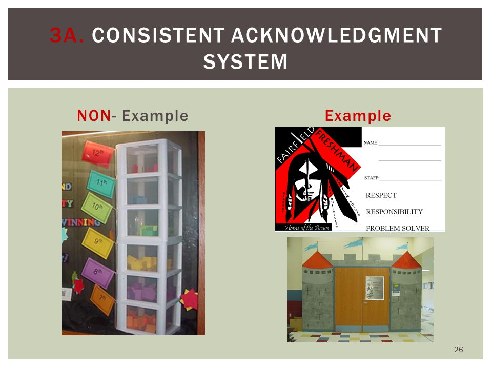  Include which problem behaviors will be class-managed and which will be office- managed  Timely corrective response to problem behavior  Link correction and re-teaching to:  School-wide expectations  System for teaching expectations  Acknowledgment system  The function of the misbehavior 3B.