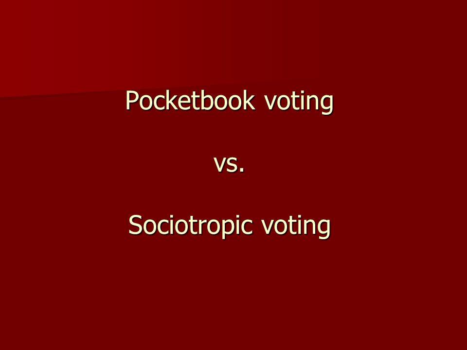 Pocketbook voting vs. Sociotropic voting