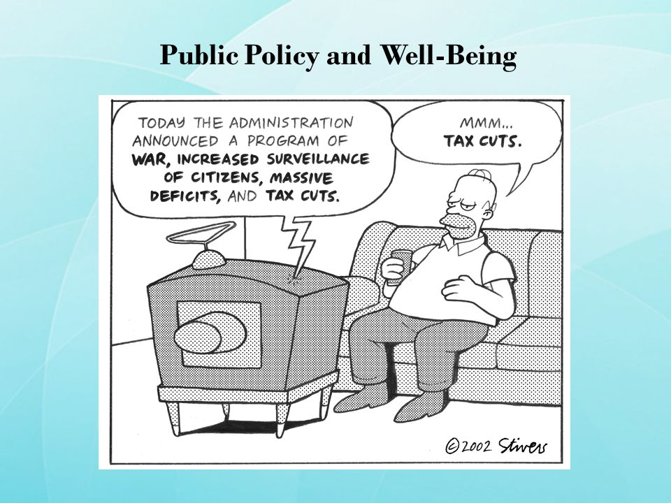 Public Policy and Well-Being