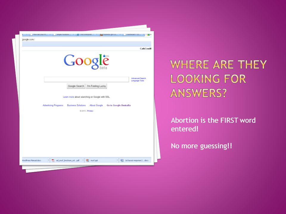  Find US providers of the service (who appear in Australian online searches) you do and request that they put a link to yourselves under Australian Counseling Support