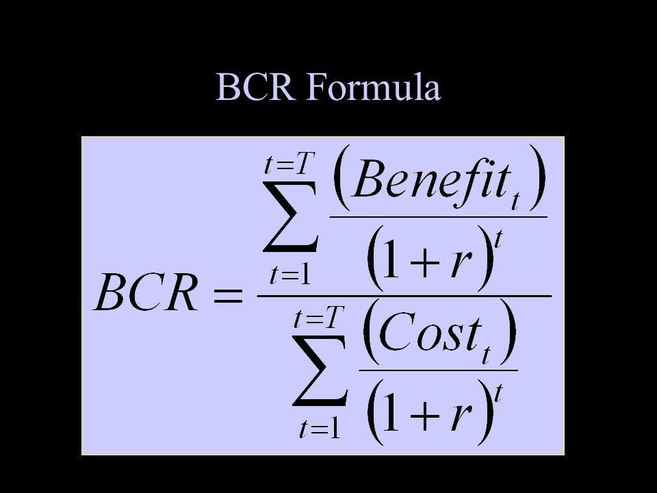BCR Formula