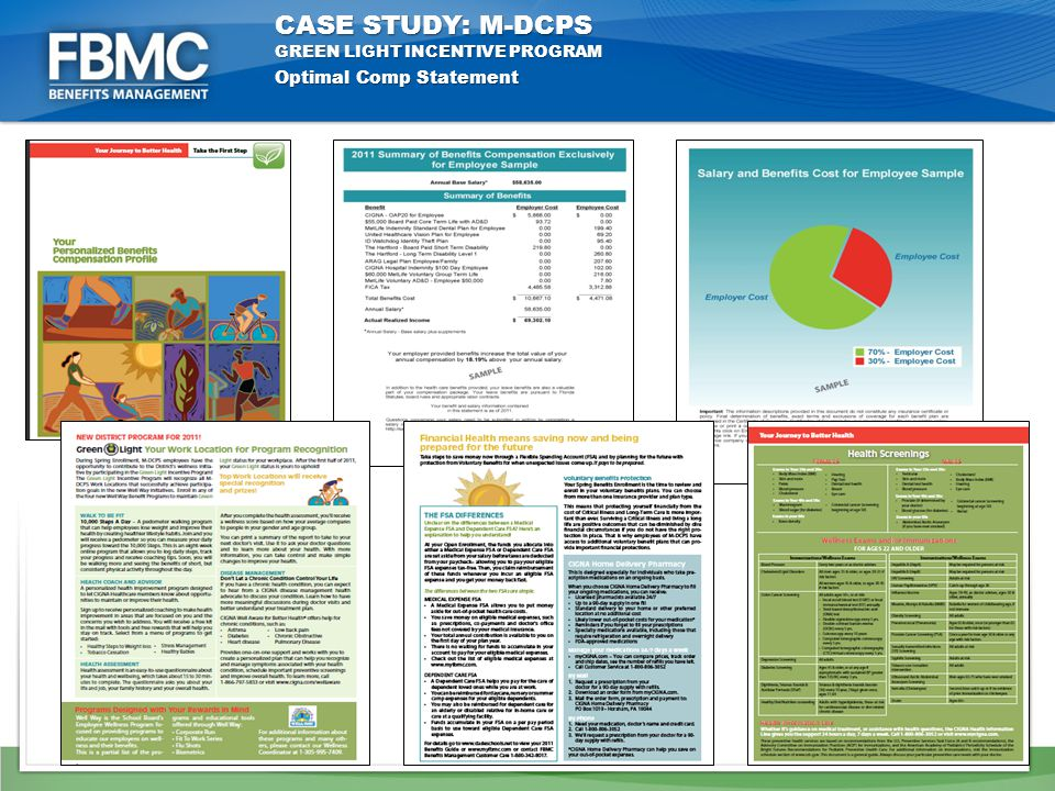 Optimal Comp Statement CASE STUDY: M-DCPS GREEN LIGHT INCENTIVE PROGRAM