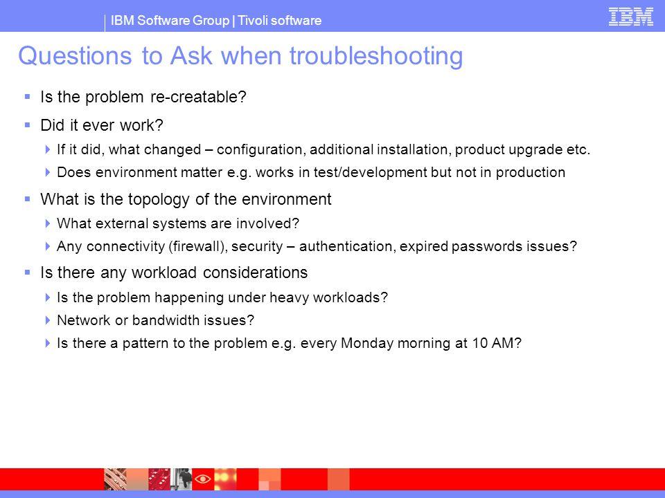 IBM Tivoli Example: Workload Analysis