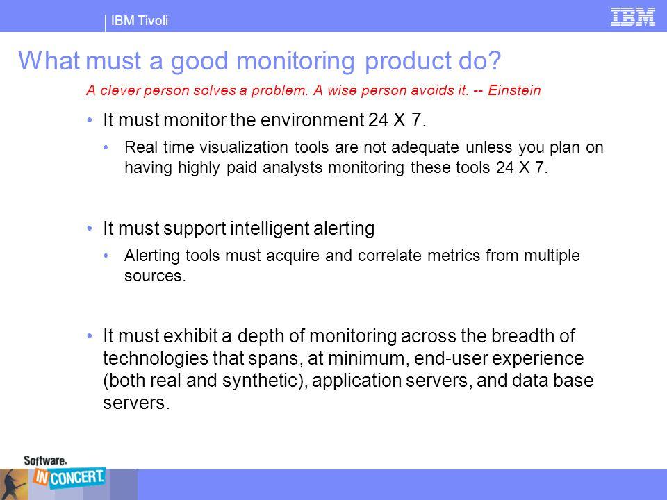 IBM Tivoli Example: Transaction Analysis Methodology