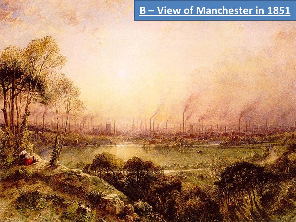 B – View of Manchester in 1851