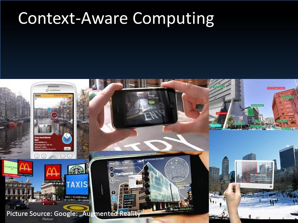 """Context-Aware Computing Picture Source: Google: """"Augmented Reality"""