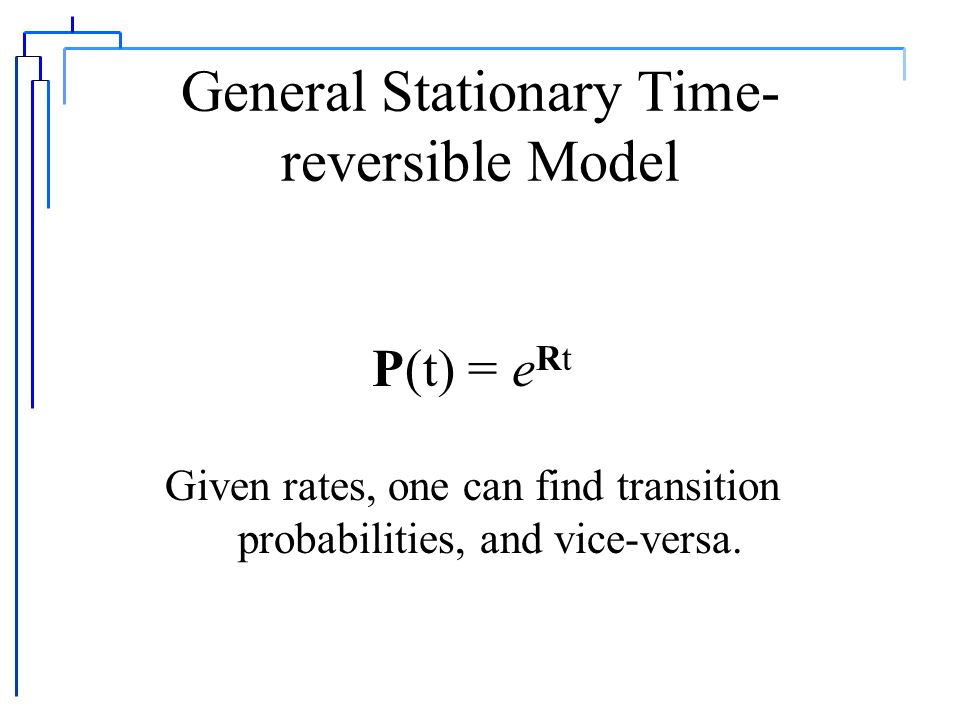 General Stationary Time- reversible Model.p C r CA p G r GA p T r TA p A r AC.p G r GC p T r TC p A r AG p C r CG.p T r TG p A r AT p C r CT p G r GT.