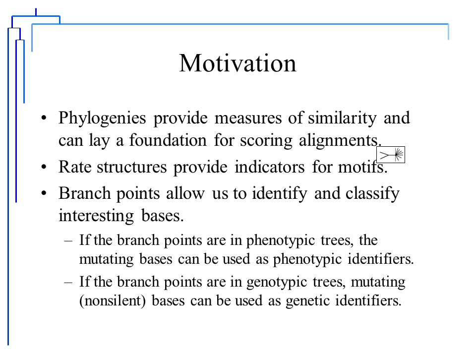The distance between sequences, Part III. Algorithms for phylogenies M.