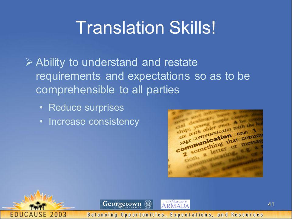 41 Translation Skills.