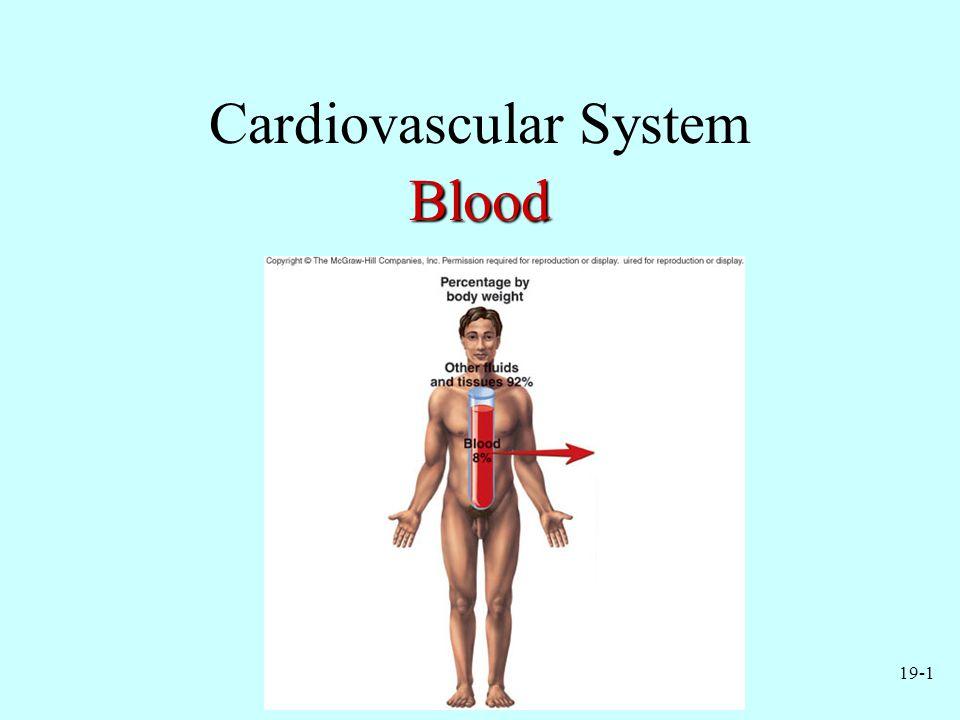 19-1 Cardiovascular SystemBlood