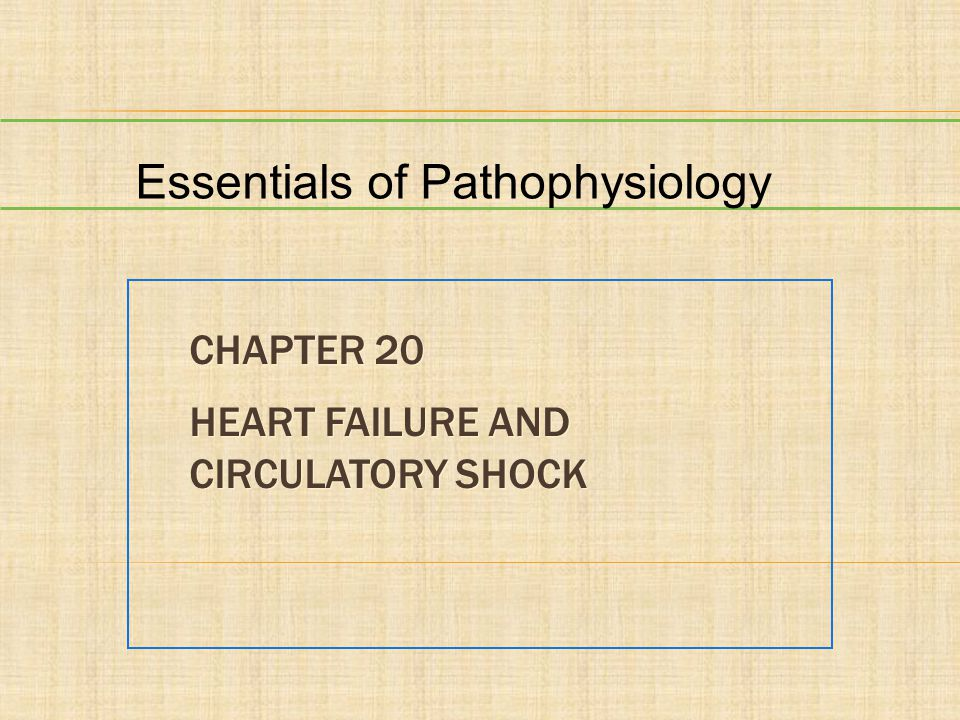 CHAPTER 20 HEART FAILURE AND CIRCULATORY SHOCK Essentials of Pathophysiology