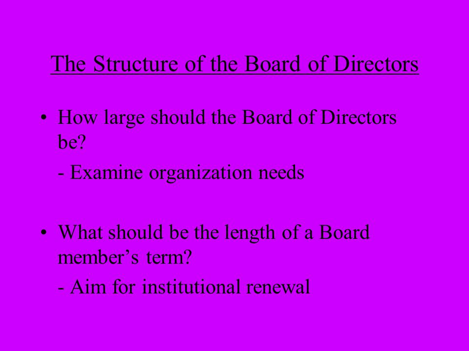 * DISCUSSION * How are your Board's committees managed.