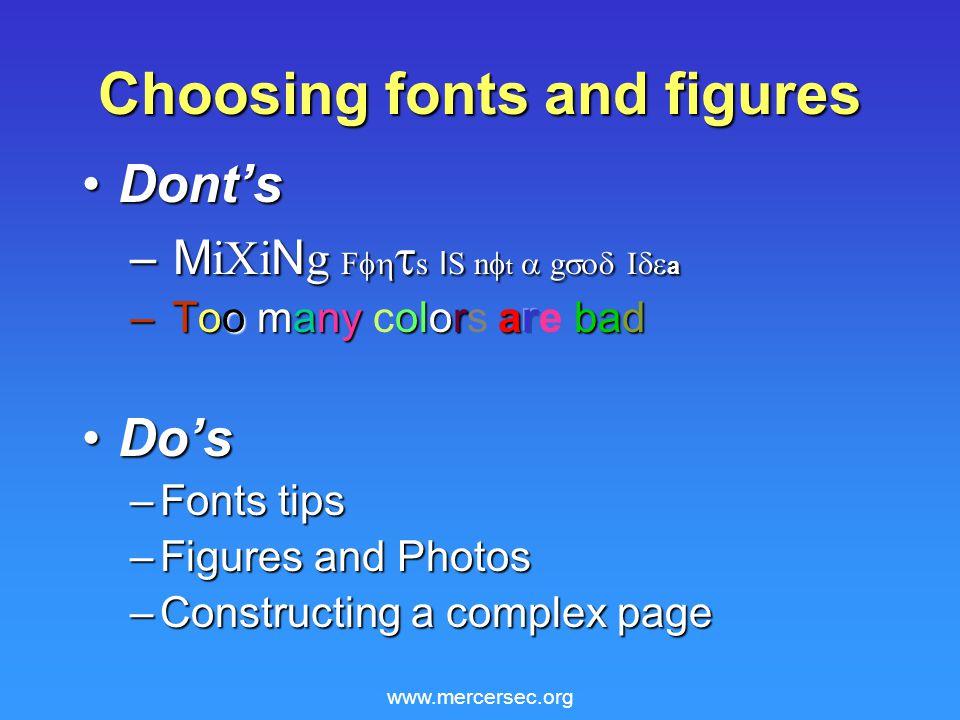 www.mercersec.org Choosing fonts and figures